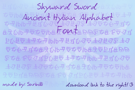 L'alphabet de Skyward Sword