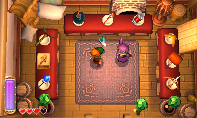 boutique dans A Link Between Worlds
