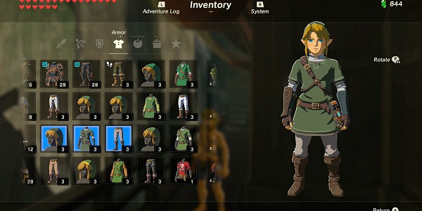 Costumes des amiibos dans Breath of the Wild