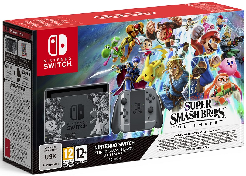 Pack Nintendo Switch édition Super Smash Bros. Ultimate
