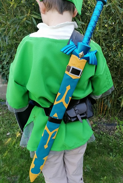 Skyward sword é pée réplique plastique déguisement de Link Legend of Zelda