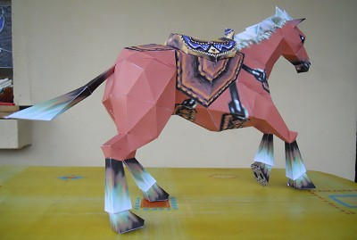 papercraft Epona d'Ocarina Of Time