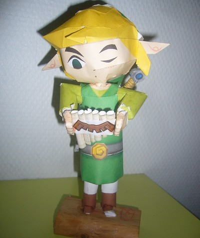 papercraft Link de Spirit Tracks