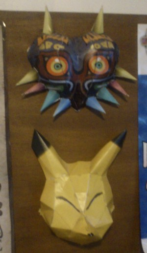 papercraft de masques