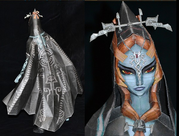 papercraft Midona humaine de Twiling Princess