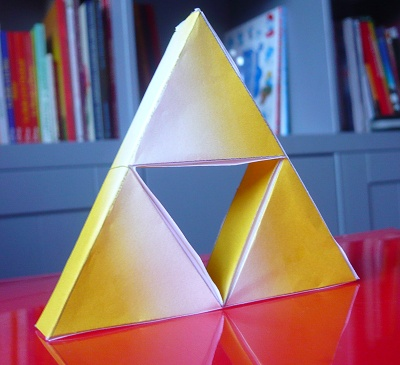 papercraft la Triforce
