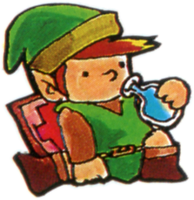 Link boit une potion The Legend of Zelda nes