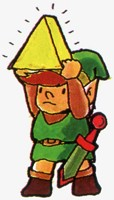 Link trouve un fragment de Triforce The Legend of Zelda nes
