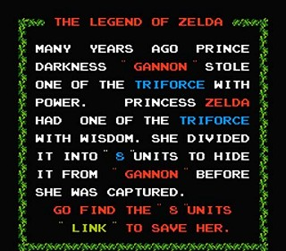 introduction de Legend of Zelda