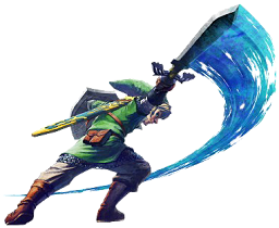 Link en action dans Skyward Sword