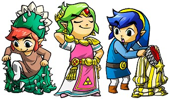 3 Link changent de costume