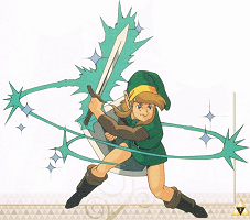 Link attaque circulaire A Link to the Past SuperNes