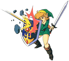 Link bouclier A Link to the Past SuperNes