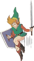Link saute A Link to the Past SuperNes