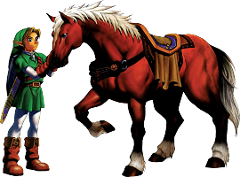 Link et Epona Ocarina of Time