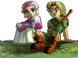 Link et Zelda Ocarina of Time
