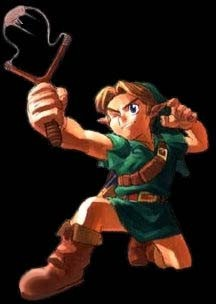 Link au lance-pierre Ocarina of Time