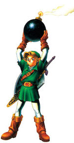 Link avec une bombe Ocarina of Time